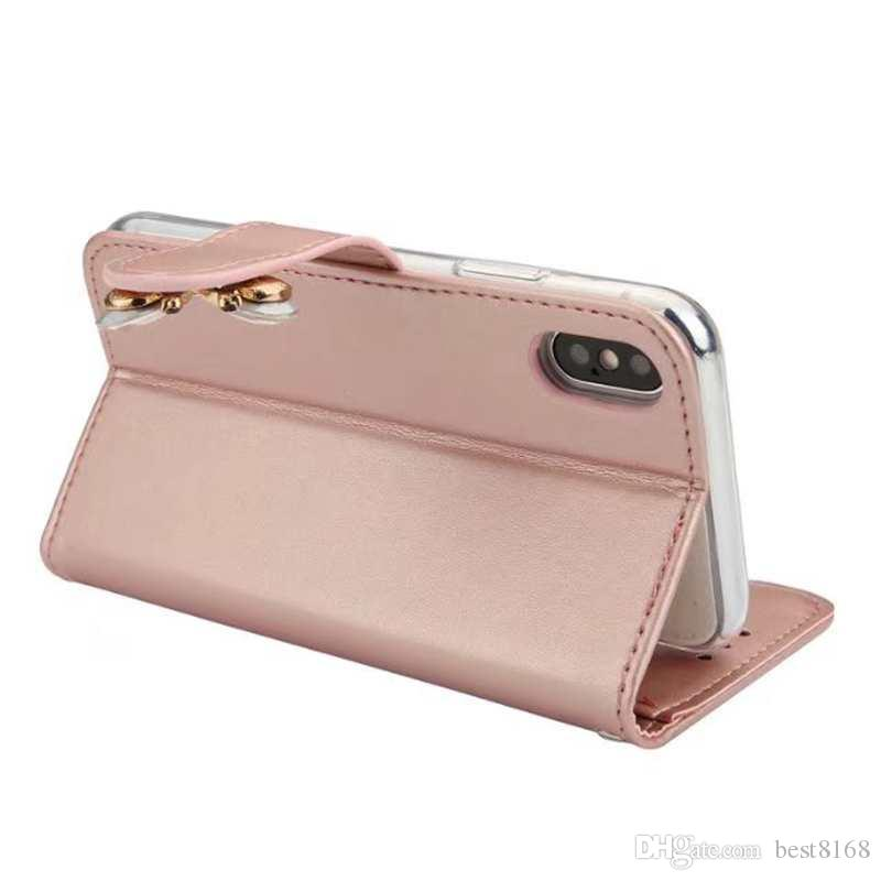 Bling Diamond Leather Wallet Case For Galaxy S8 S7J5 J3 A32017 A5 2018 Magnetic Butterfly ID Card Slot Cover Flower Flip Pouch Strap
