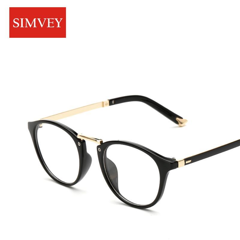 d6819d2621 2019 Simvey Vintage Cat Eye Glasses Frames Women Brand Designer Optical  Glasses Round Lens Anti Blue Ray Computer From Value333