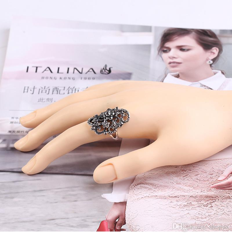 Hollow Relief Index Finger Ring Fashion Creative Temperament Ring Personality Wild Cool High-end Jewelry Brand New 5Size