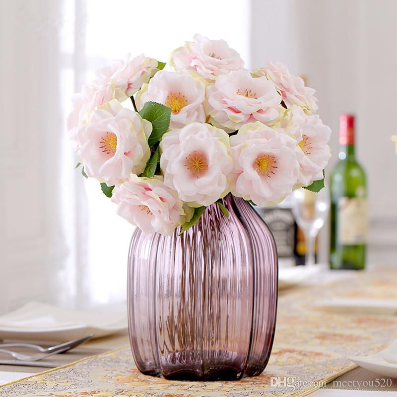 Artificial Flowers 38CM Fake Silk Spring Roses Wedding Flowers ...
