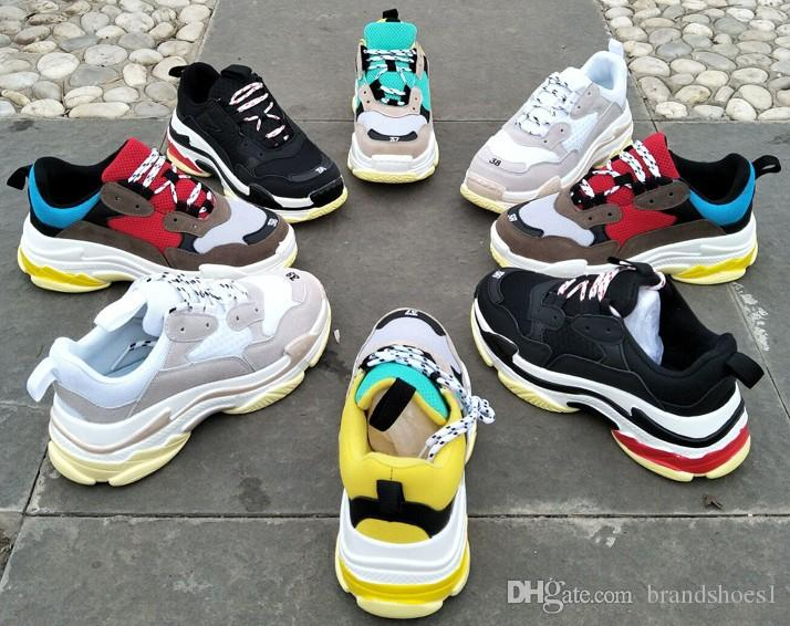 Tripe-S Retros Running Shoes Mens Casual Shoe Fashion Dad Shoe Clunky Sneaker GD Rocky Same Style Korean Muffin Thick Bottom.