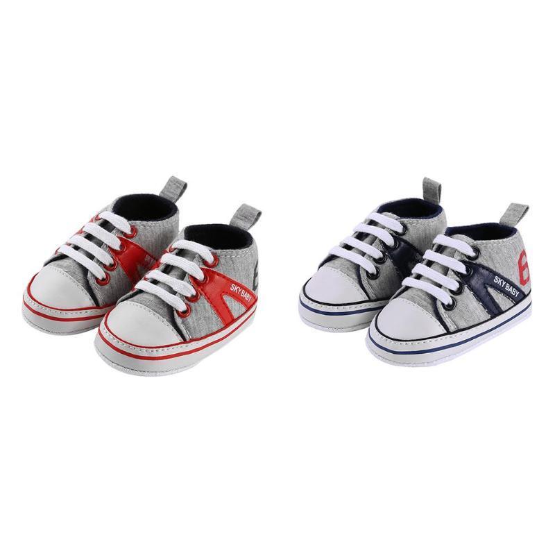 0a9c776cda94d Newborn Baby Prewalkers Soft Kids Canvas Sports Sneakers Sole Anti-Slip  Boys Girls First Walkers Toddler Shoes Child Footwear First Walkers Cheap  First ...