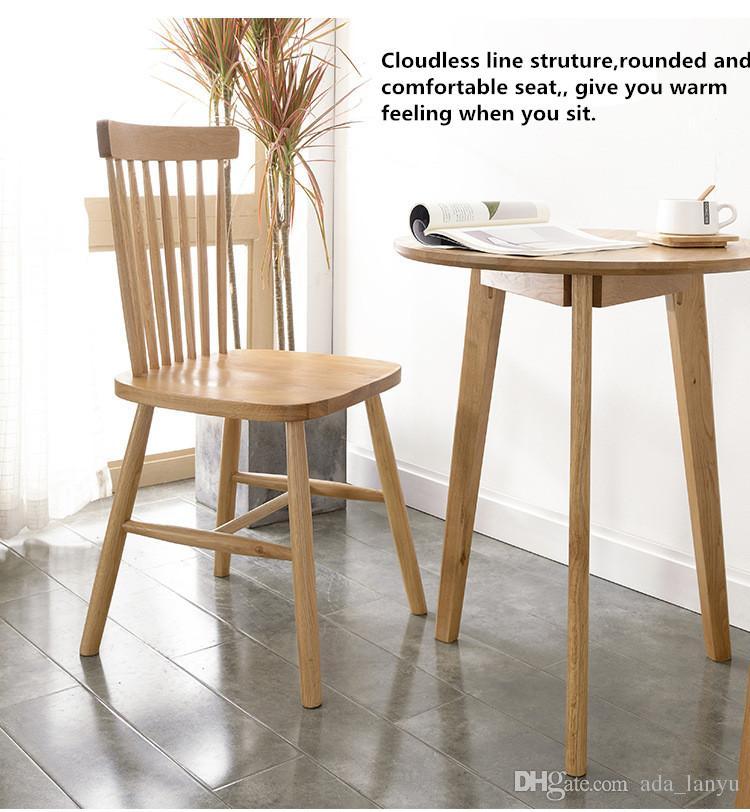 Acheter Chaise Commerciale Moderne En Bois Massif Chêne Blanc Tenon Struture Windsor De Fshion Pour Hôtel Restaurant Salon Bureau Club De