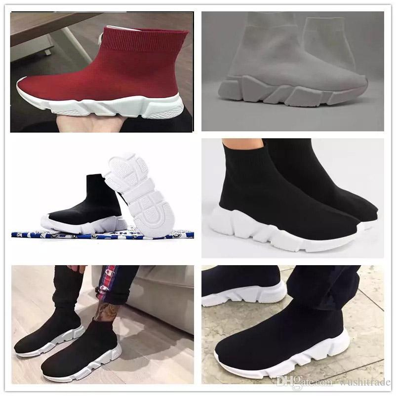 (with box) Luxury Sock Shoes Men Women Fashion Sock Shoes Sneakers Sock Race Runners black Running Shoes Round Toe Low Top Sneakers cheap sale for cheap websites sale online buy cheap Manchester FdfZBCiXNI
