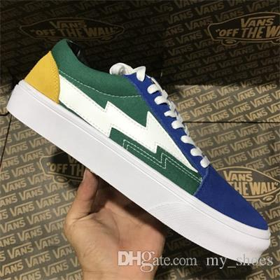 4f1074d32683be 2019 2018 Old Skool Revenge X Storm Fashion Canvas Running Skateboard Shoes  For Men Womens Black Blue Red Casual Sports Sneakers SIZE 35 44 From  My shoes