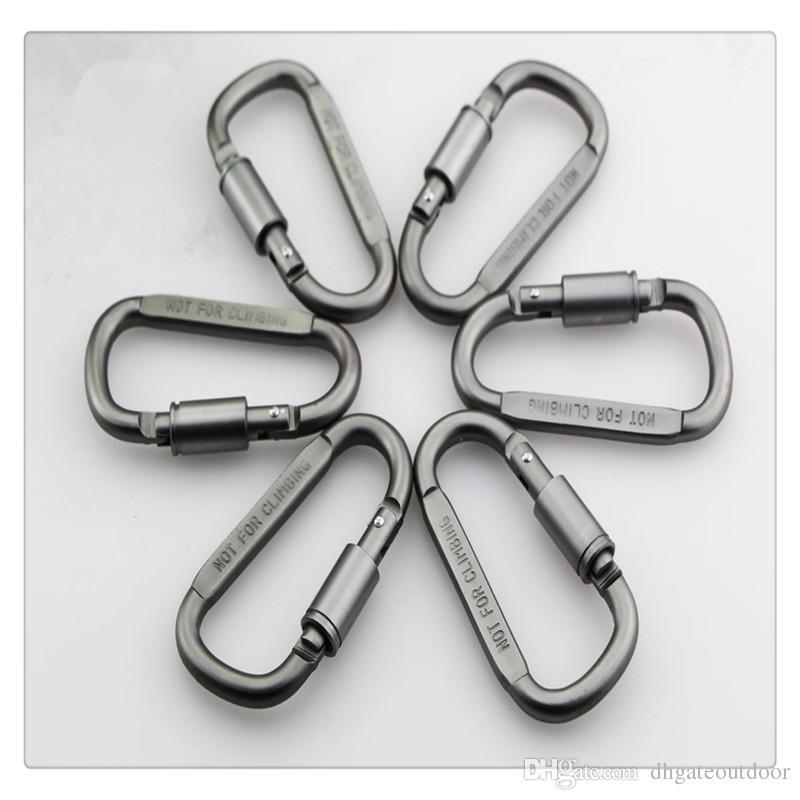 Weitere Sportarten Aluminium Karabiner D Ring KeyChain Clip Karabinerhaken Karabiner Camping