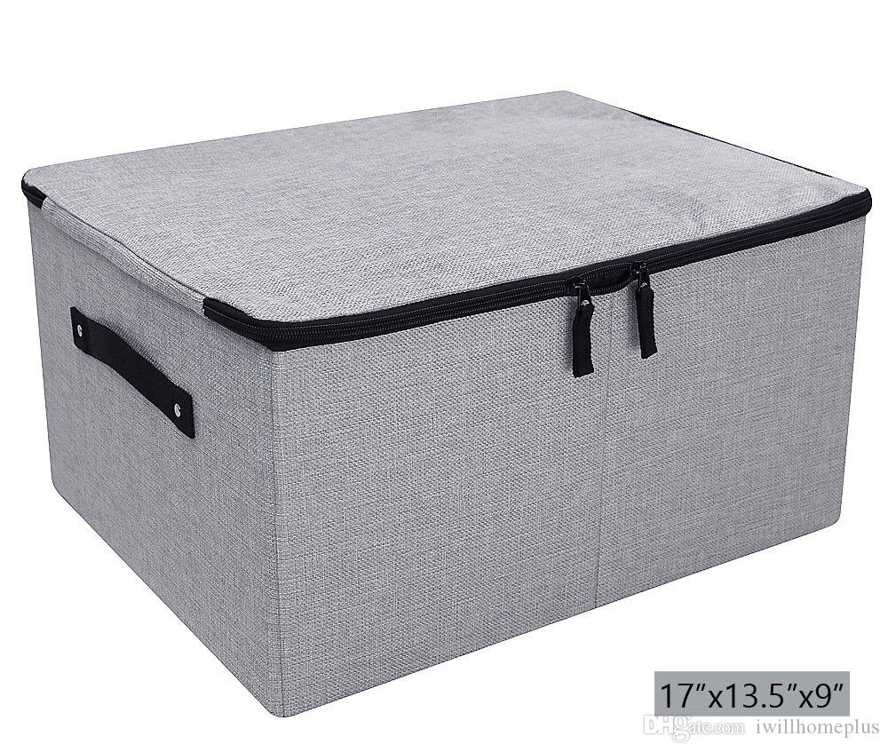 2018 Dust Proof Closet Clothes Storage Boxes With Zippered Lid Breathable Fabric u0026 Collasible Design For Seasonal Garment Organizer Light Gray From ...  sc 1 st  DHgate.com & 2018 Dust Proof Closet Clothes Storage Boxes With Zippered Lid ...