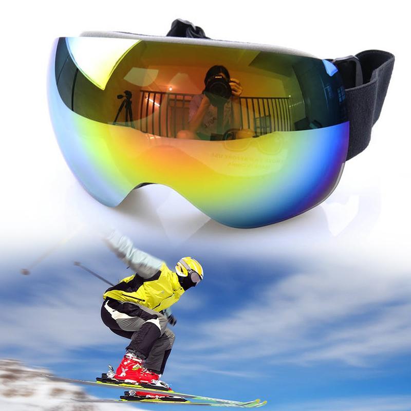 32047b89c8d Ski Goggles Replaceable Magnetic Lenses UV400 Anti-fog Ski Mask ...