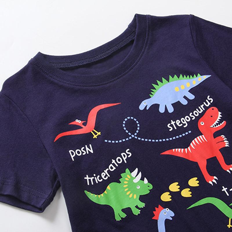 Kids T Shirt 2017 Fashion Cartoon Dinosaur Clothes For Boy Cotton T-shirt Kids Baby Boys Summer Tees Tops Baby Clothing CG275