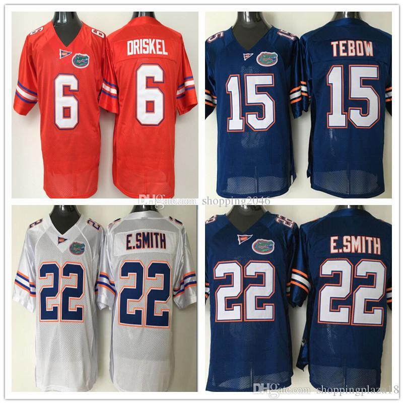 sports shoes 174ad 28703 Florida Gator 22 Emmitt Smith 6 Jeff Driskel 15 Tim Tebow Men NCAA College  Football Jerseys Stitched logos
