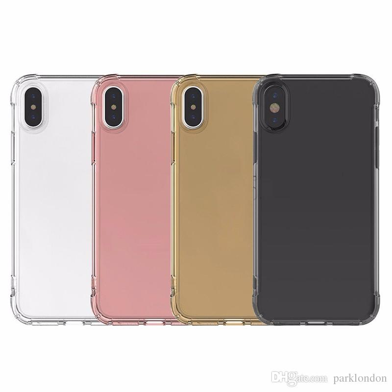 2018 hot Air cushion shockproof gel tpu sound switching speaker transparent phone case anti shock cover for iphone x 6 7 8 plus s8 R11