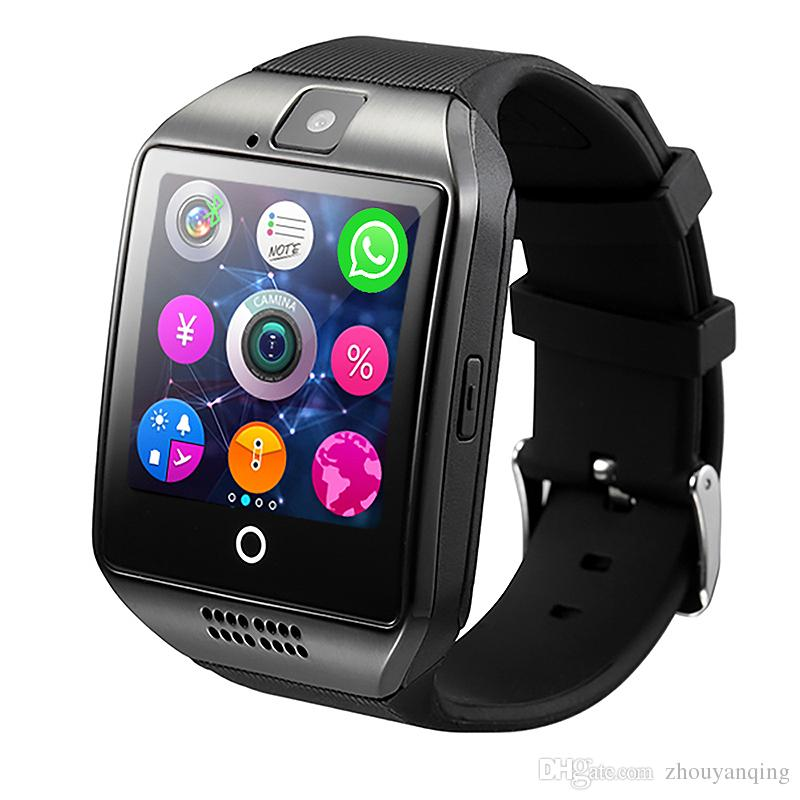 reloj inteligente q18 smartwatches with SIM TF card remote control mobile  phones rubber band for android IOS