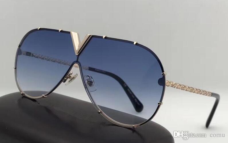 Compre 2018 Novos Homens Mulheres Marca Óculos De Sol Z0896e Oval Moda Óculos  De Sol Revestimento Lente Do Espelho Oco Armação De Metal Cor Banhado A  Quadro ... f6ca28a495