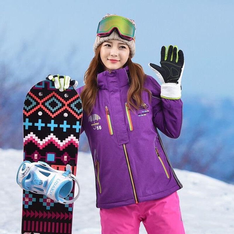 the latest a0675 09d20 Winter Frauen Ski Jacke Mantel Wasserdichte Warme Sportbekleidung Damen  Snowboard Kleidung Outdoor Sports Sking Mädchen Winter Schnee Jacke
