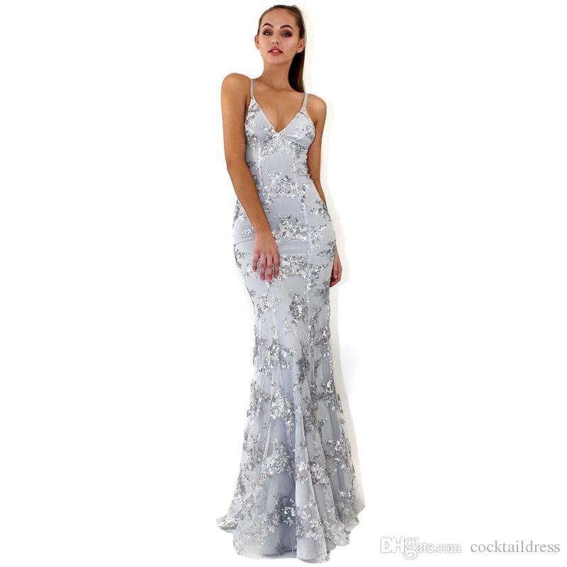 Plus Size Sequin Gown