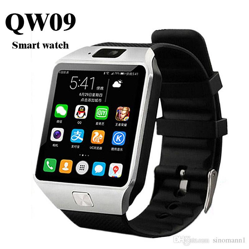 e815a9c1dfd Compre 50X SMARCENT 3G WIFI QW09 Android Relógio Inteligente 512 MB 4 GB  Bluetooth 4.0 Real Pedômetro SIM Card Chamada Anti Perdida Smartwatch PK  DZ09 GT08 ...