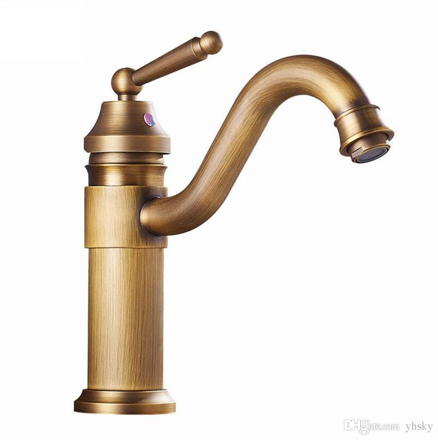 High Quality kitchen faucet copper lead-free sinks hot and cold water mixer European retro household items