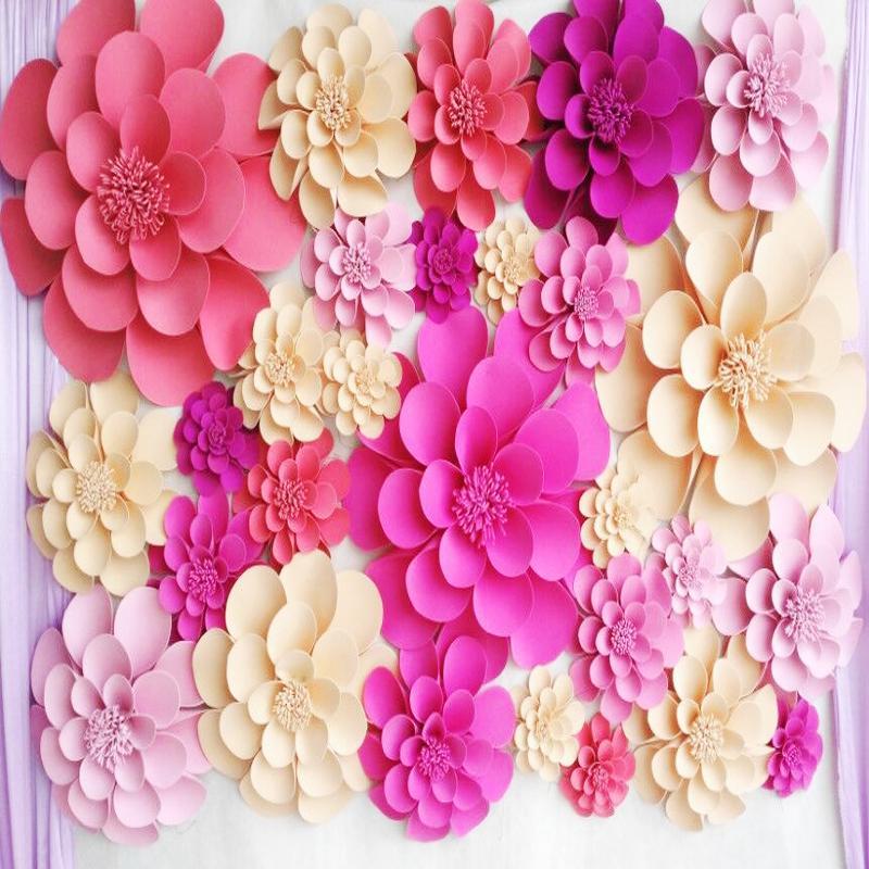 Acheter Ensemble De Fleurs De Papier En Mousse Geante Pour Les