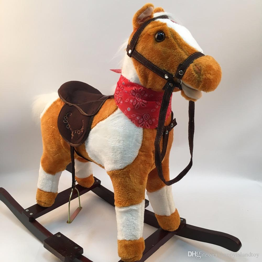 High Quality 3 8 Years Old Wooden Rocking Horses Walking Horse Toys