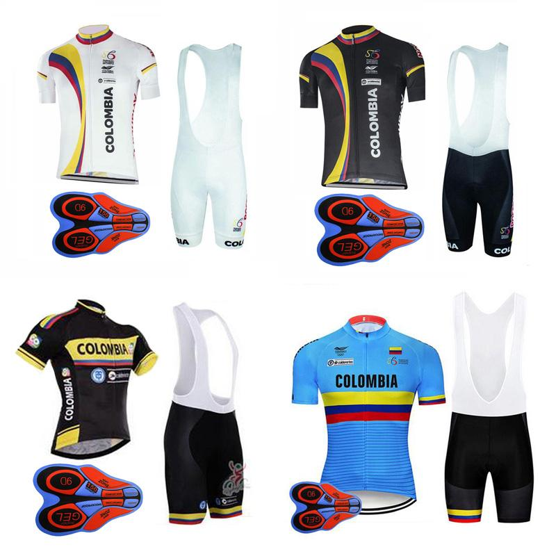 6586791418c 2018 Pro Team Colombia Cycling Jersey Set Mountain Bike Cycling Clothing  Summer Racing Bicycle Clothes Ropa Ciclismo MTB Sportswear 91004j Colombia  Cycling ...