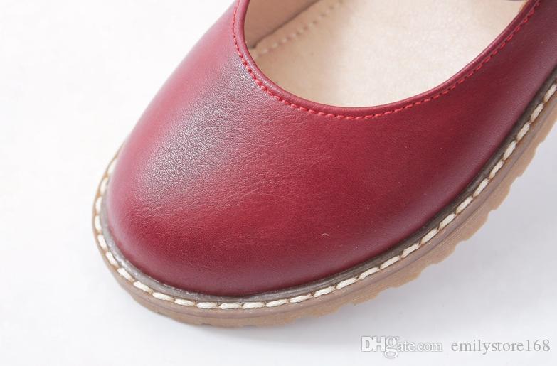 a668e08be391d Acheter Chaussures Filles Printemps Et Automne 2018 Nouvelle Version  Coréenne Du Fond Plat Grand Garçon Petite Fille Chaussures De Princesse  Noires Enfants ...