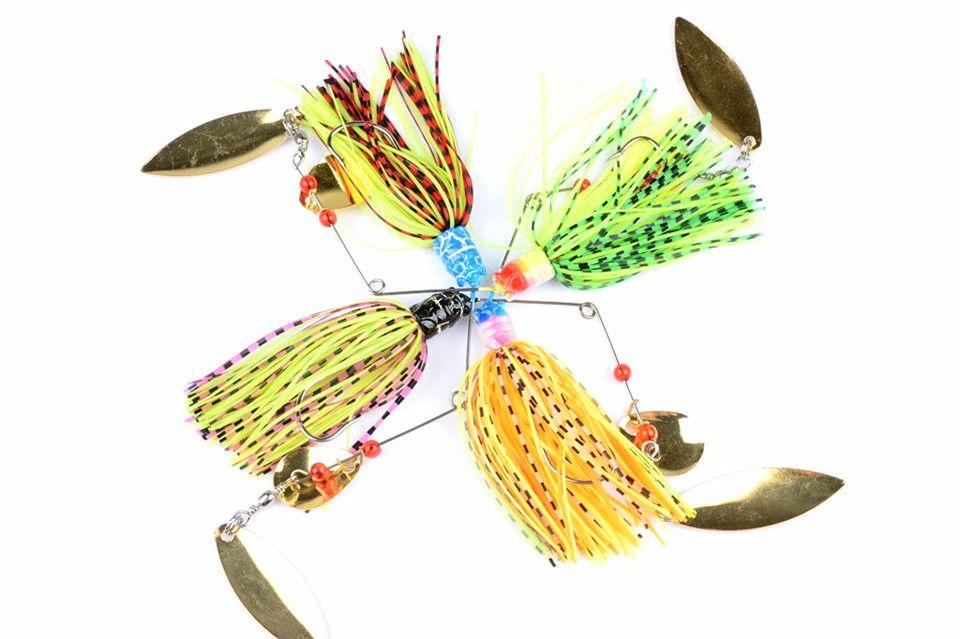 4шт spinnerbaits вращающиеся блестки свинец голова Пух щука рыболовные приманки buzzbaits немного жира 19,8 г 2018 последние рыболовные снасти