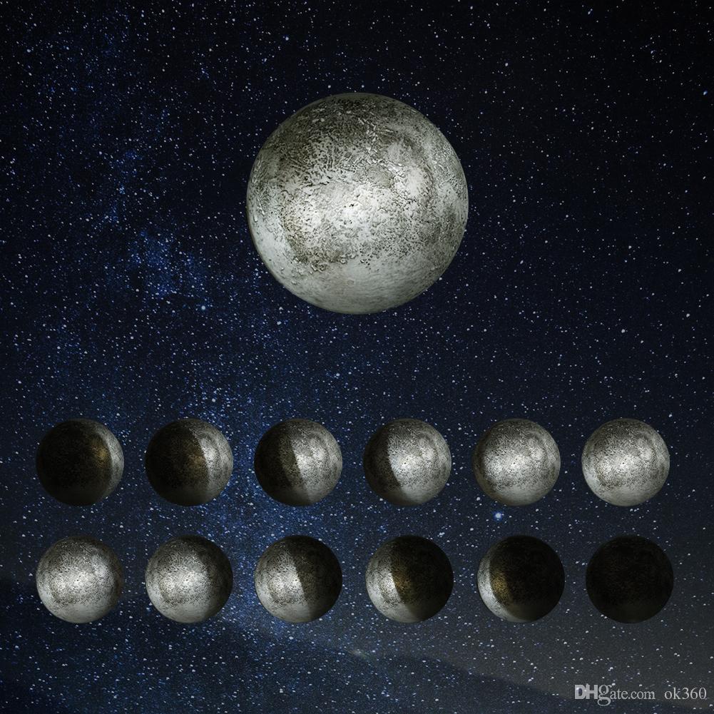 Avec Kid Guérison Led Télécommande Bébé Chambre Applique Intérieur Relaxante Lune Pour Moon Super Lumière Art Nuit Lumières ZuOPiTkX