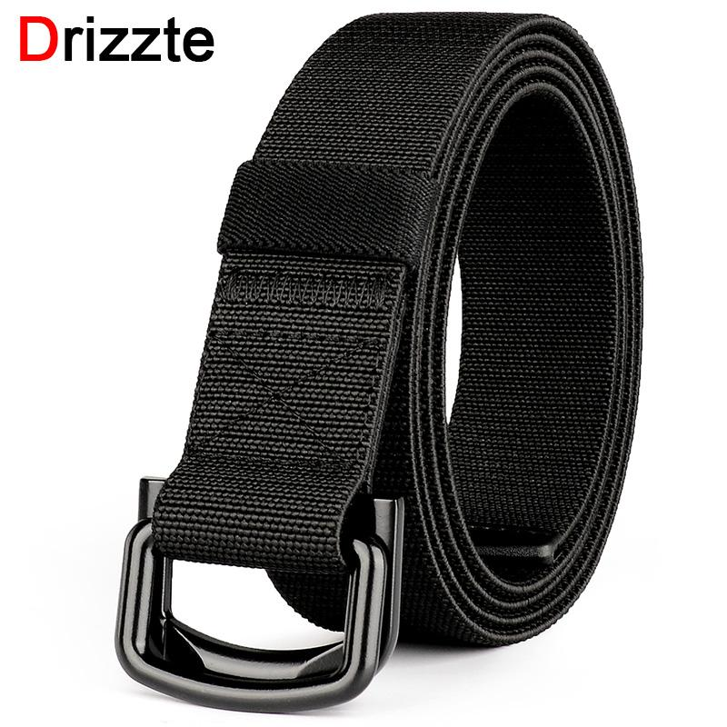 985a5d3bac7f Drizzte Plus Size 140cm 150cm 160cm 170cm 180cm Adjustable Black Elastic  Stretched Belt Mens Double D Ring For Big And Tall Man Ladies Belts Karate  Belt ...