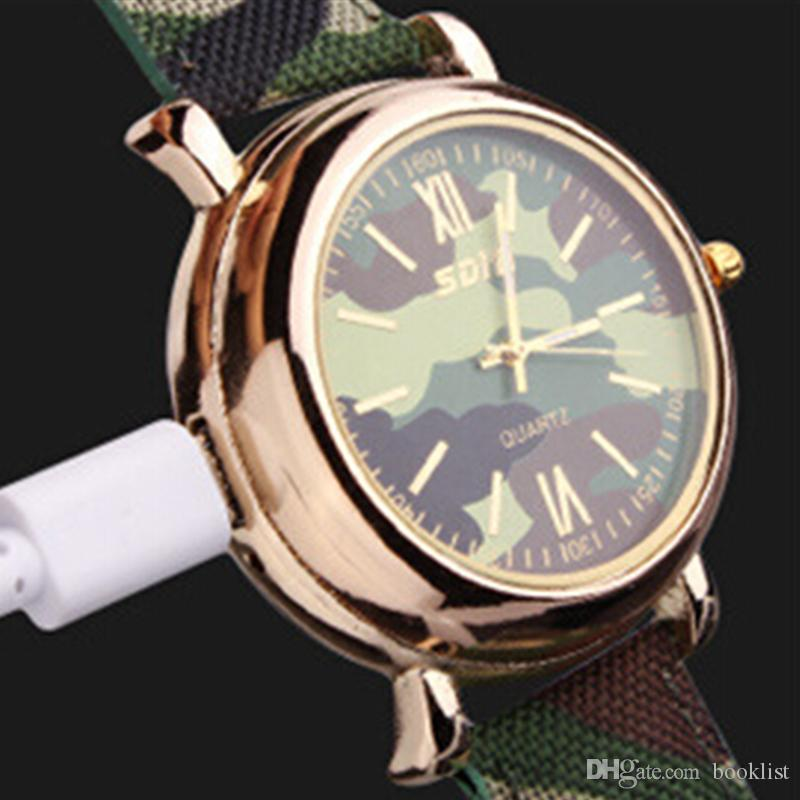 2018 Luxury watch camo Watch Lighter 2 In 1 Ricaricabile Electronic Lighter USB Carica Flameless Cigar Orologi da polso Lighter 50pz