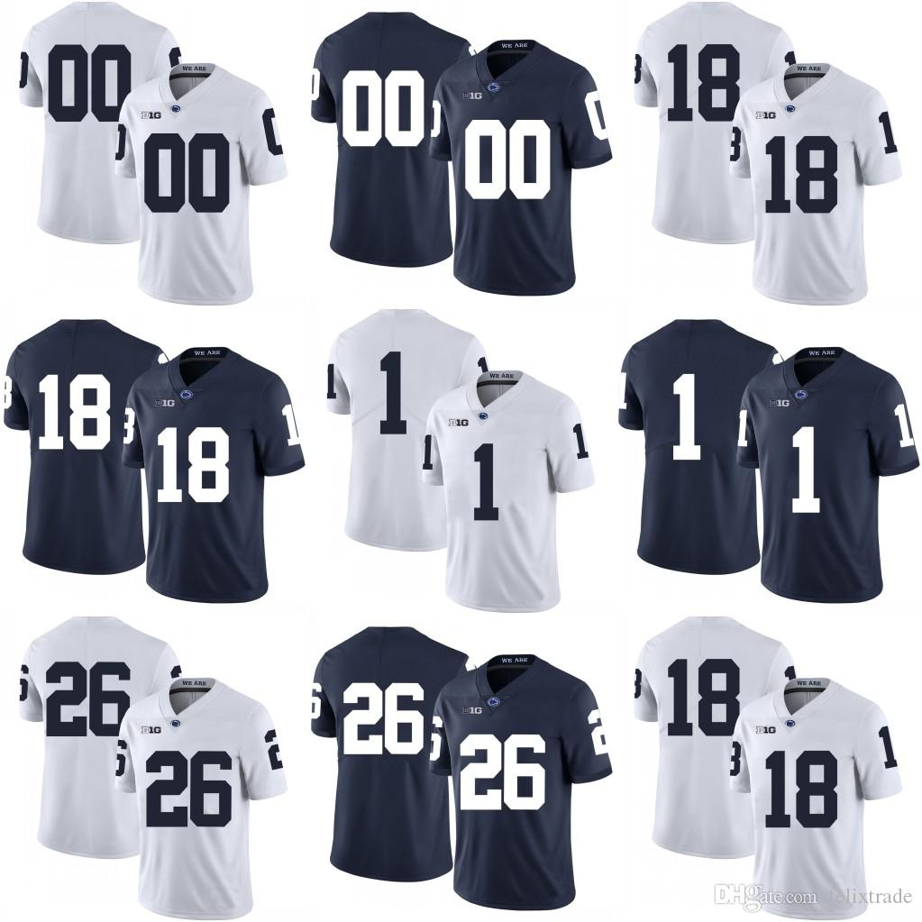 2019 Penn State Nittany Lions Jesse James Joe Paterno Saquon Barkley  College Football Stitched Jerseys White Navy Blue From Felixtrade beed2b5bc