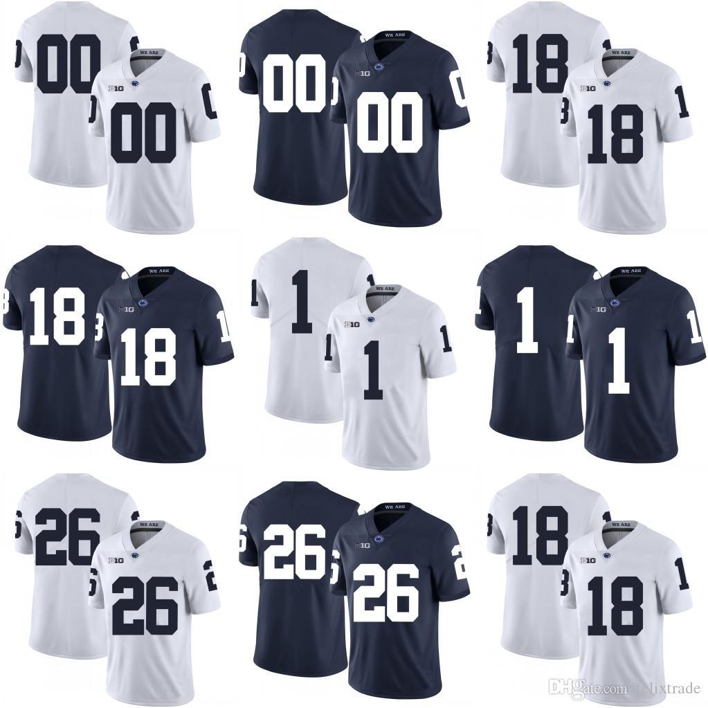 db418f8c2e9 2019 Penn State Nittany Lions Jesse James Joe Paterno Saquon Barkley  College Football Stitched Jerseys White Navy Blue From Felixtrade