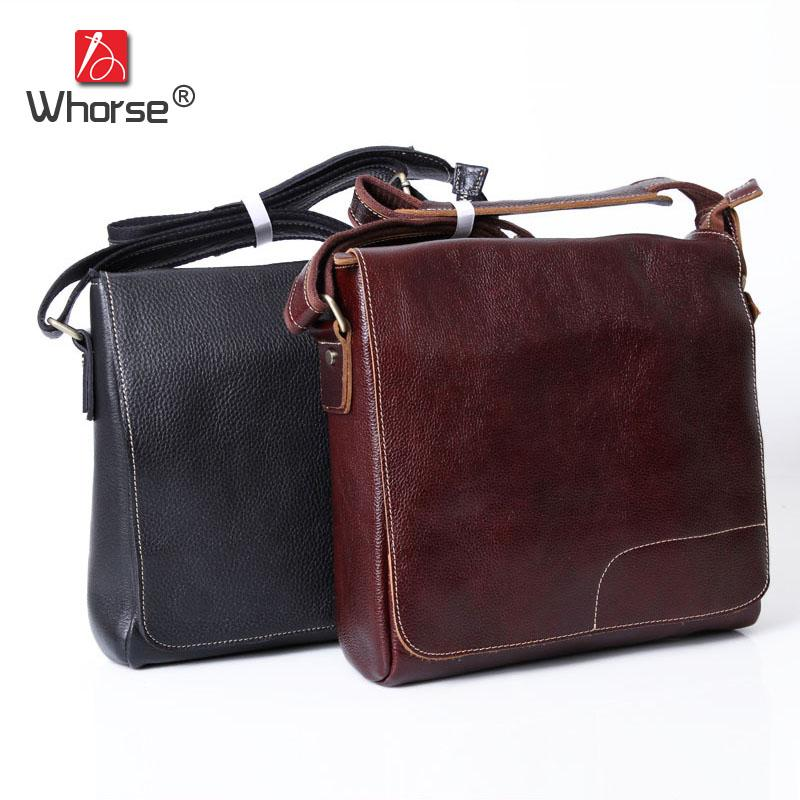 8619a2afc1 Handmade Vintage Casual Real Cowhide Men Business Briefcase Bag Genuine  Leather Satchel Crossbody Messenger Bags For Man W092588 Body Bags Over The  Shoulder ...