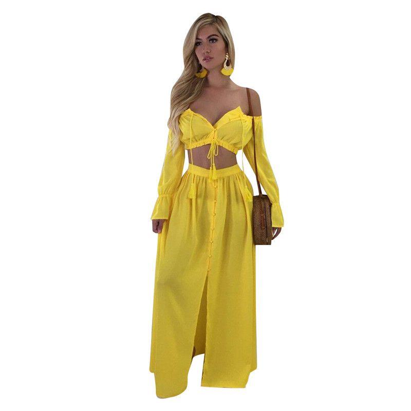 Strand Frauen Kleid Teiliges Großhandel Beiläufiges Sommer 2 Chiffon R4AL5j