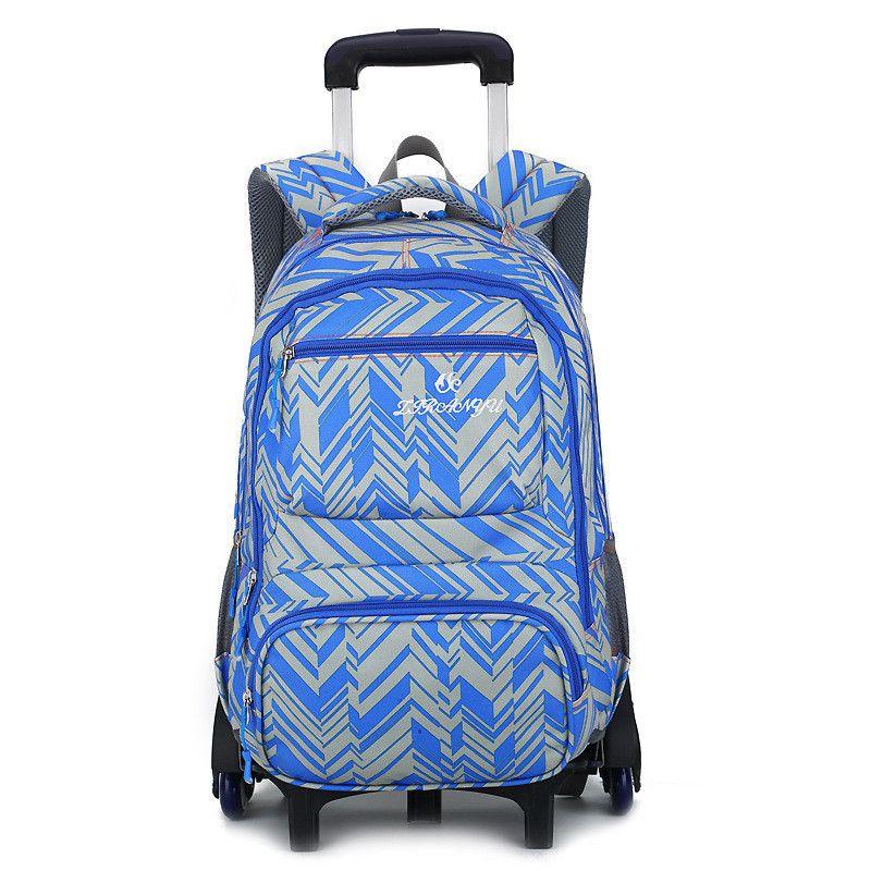 Wheeled School Backpack Wheels Kids Travel Trolley Bag Schoolbag