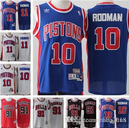 8c597b203c6 closeout 2018 detroit mens pistons jerseys 10 dennis rodman jersey 11 isaiah  thomas jersey basketball jerseys