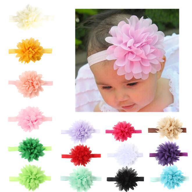 Compre Bandas Para Bebes Ninos Flores Infantiles De Tela De Colores