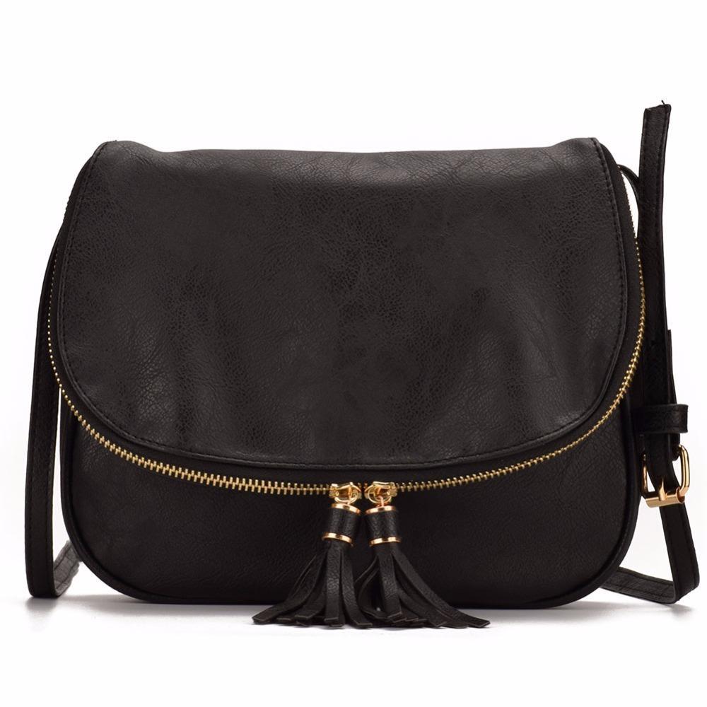 Zipper Flap Small Women Leather Crossbody Bag Saddle Messenger Bag Shoudler  Bags Tassel Pedant Design Handbag Women Bag Y18102503 Handbag Wholesale  Womens ...