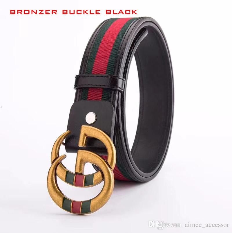 ab93d8036 Brand Men Belt 2018 Famous 100% Realy Leather Belt Smooth Buckle Women And  Men High Quality Striped Genuine Leather Design Belts For Men Mens Belts  Tool ...