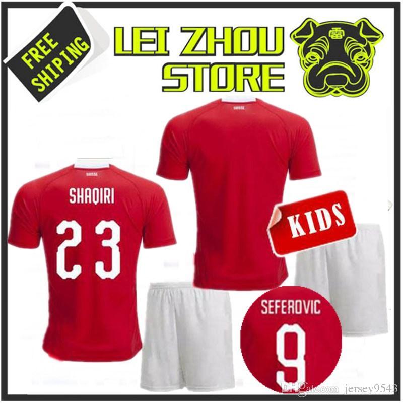2018 World Cup Switzerland Adult Child Kit Football Shirt Shaqiri