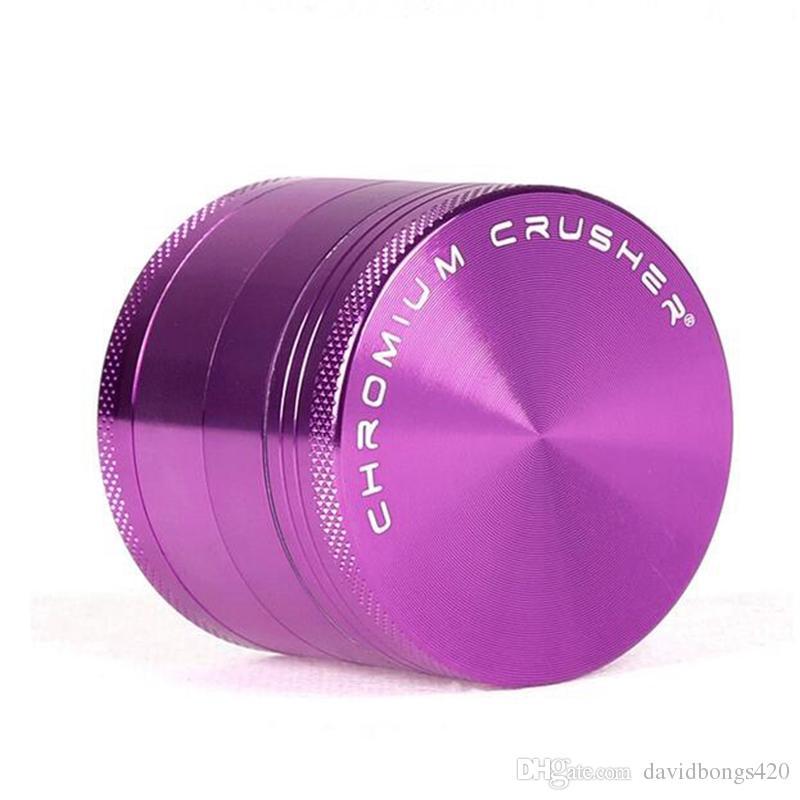 4 Pièces Grinder En Alliage Rose Purple Chromium Crusher Métal Broyeur D'herbes 50mm Diamètre En Alliage D'aluminium Tobacco Herb Grinder Pour Dab Rigs 500-4