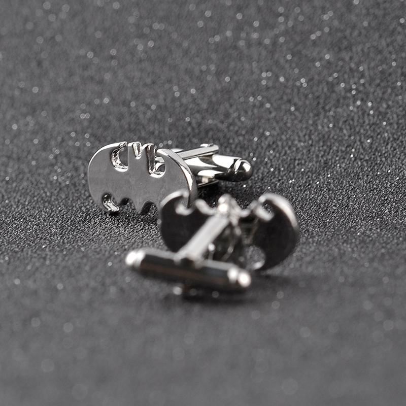 Jewellery Silver Superhero Batman Cufflinks Male French Shirt Cuff Links For Men's Jewelry Gift