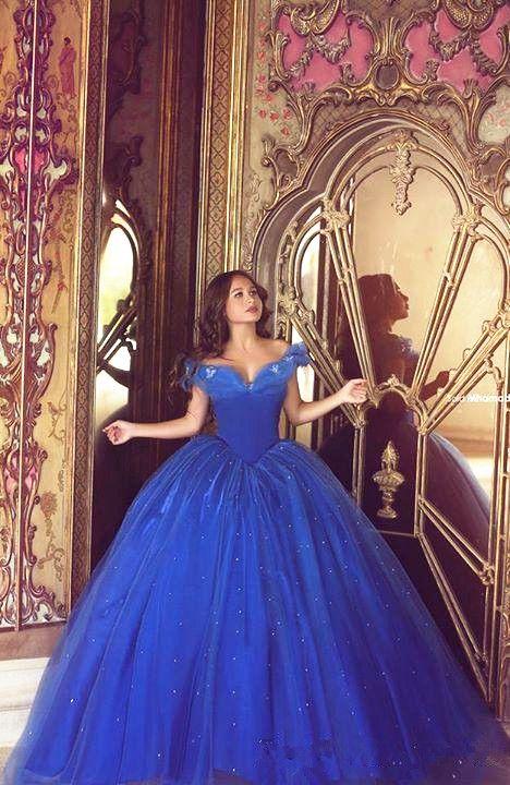 Cinderella Masquerade Dress Ball Gown Quinceanera Dress Blue Off ...