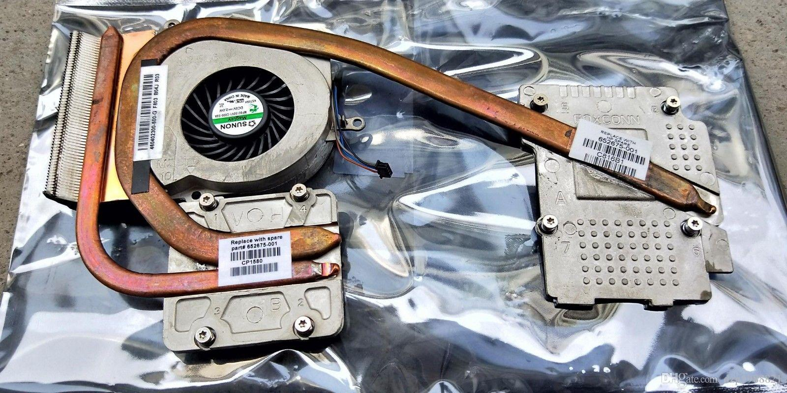 NEUER Kühler für HP EliteBook 8560W CPU Kühlkörper mit Lüfter 652675-001 652677-001