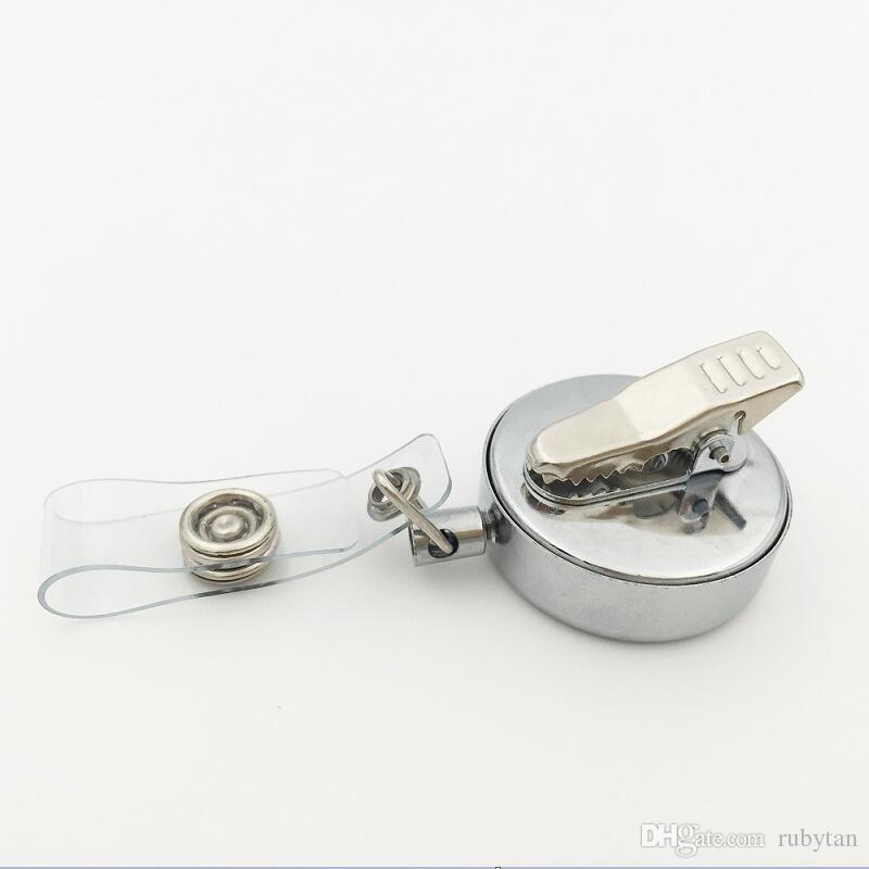 3 Estilos Flor de Loto Aceite Esencial Locket Retráctil Insignia Reel Key 30MM ID Card Clip Anillo Cordón Nombre Tag Holder Free Pad