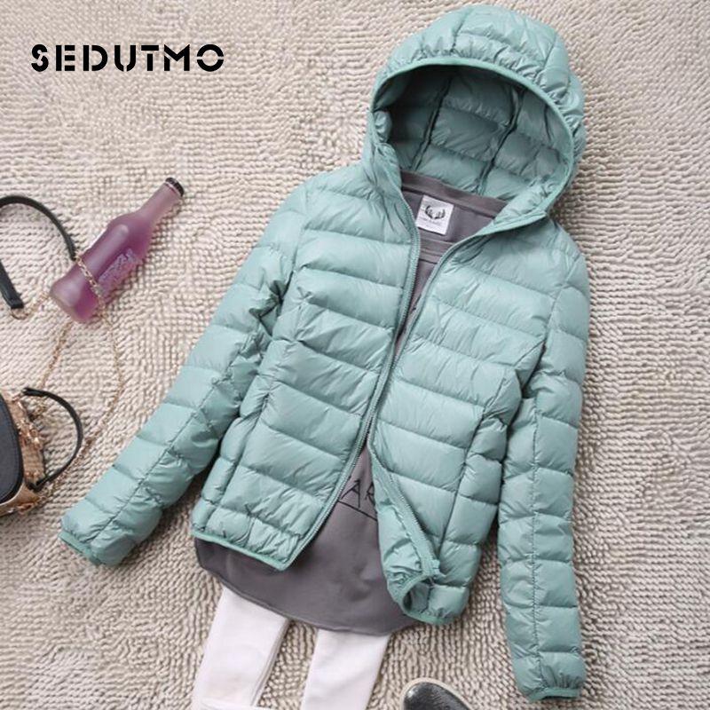 the latest 03377 5d5db SEDUTMO Winter Plus Size 4XL Piumini Donna Piumino Antracite Leggero  Piumino Con Cappuccio Giacca Piumino Autunno Parka ED034