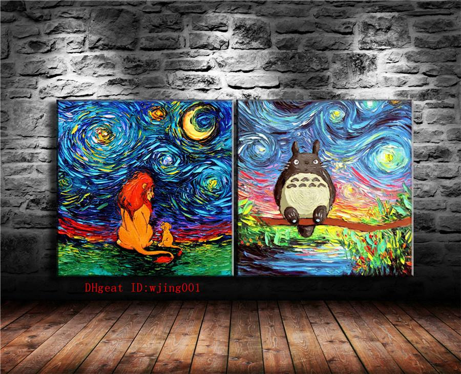 Lion King Canvas Pieces Home Decor HD Printed Modern Art Painting On Unframed Framed