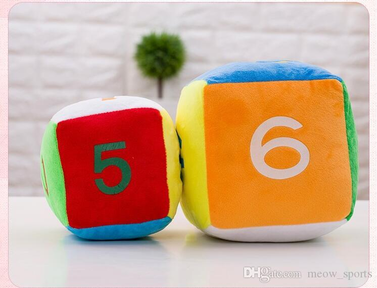 Colorful Stuffed Plush Literacy Number Digital Learning Dice Doll Children Early Educational Toys Birthday Gifts Funny Games Gift