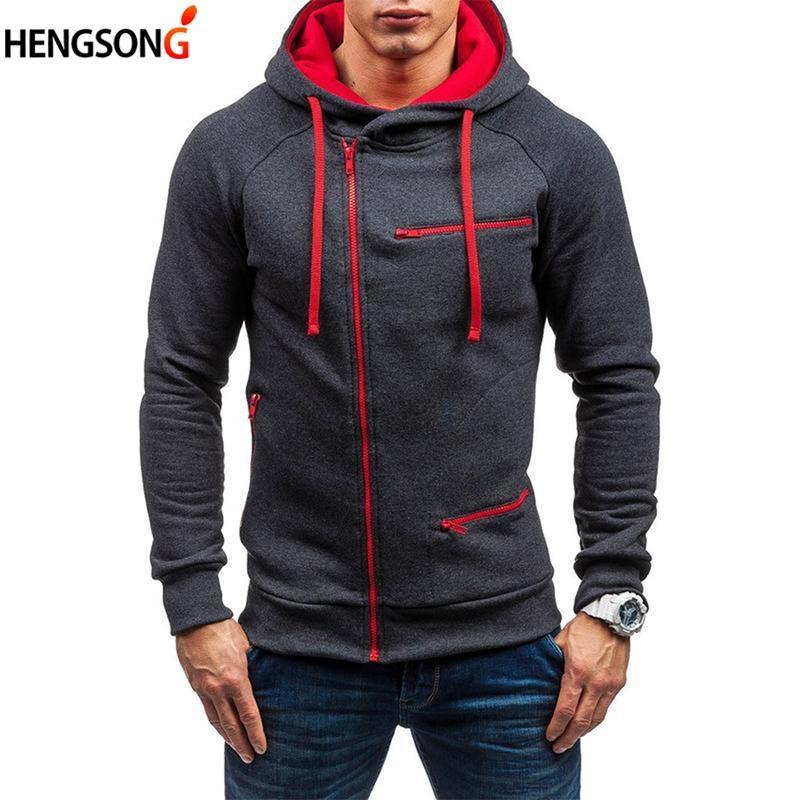 b70bd8901 2019 Autumn Winter Outdoor Fleece Running Jacket Cardigans Men Slim Hooded  Sweatshirt Long Sleeve Zip Outerwear Coat Golf Jacket From Enjoyweekend, ...