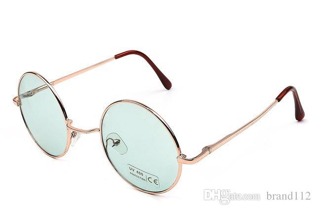 067e60d07beb3 Compre 2018 Vintage Gafas De Sol Redondas Mujeres Masculinas Gafas De Sol  Baratas Ronda Hombres Amarillo Azul Verde Uv400 Metal A  6.96 Del Brand112  ...