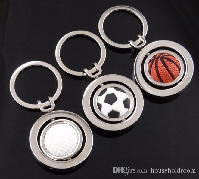 Football Pendant Keychains Sports Jewelry Accessories Basketball Golf Key Rings Car Key Chain Gifts for Men Women